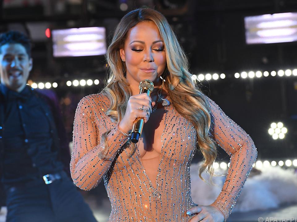 Mariah Carey bei ihrem Pannenauftritt im Times Square vor einem Jahr