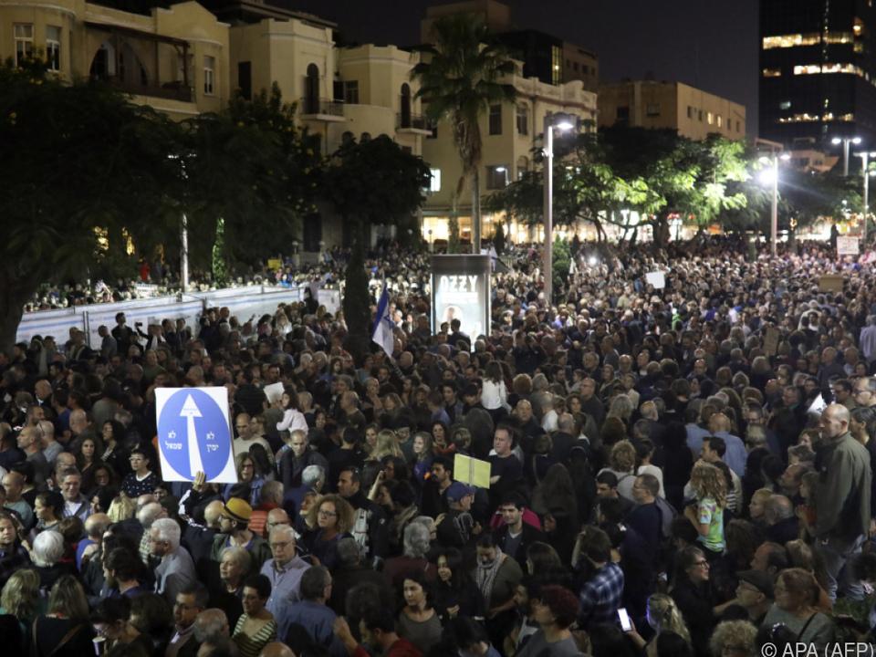 Marsch der Schande in Tel Aviv