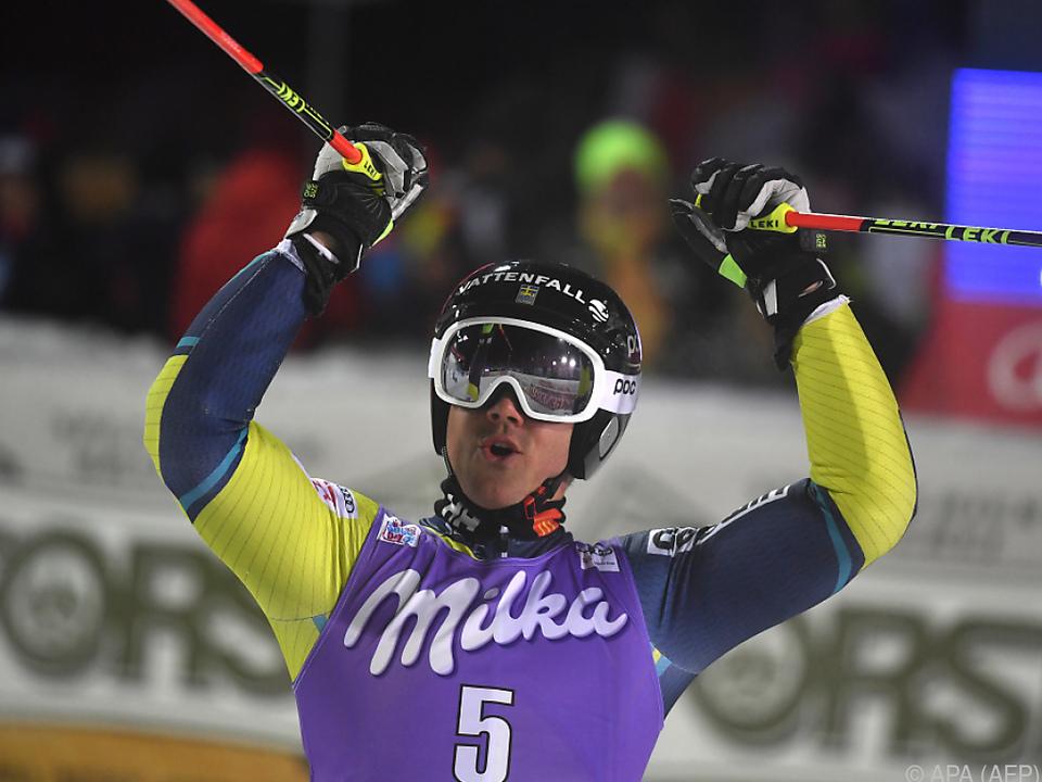 Matts Olsson feierte seinen ersten Weltcupsieg