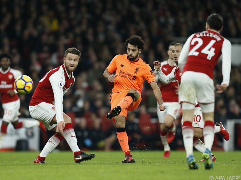 Mohamed Salah erzielt den Treffer zum 2:0 für Liverpool