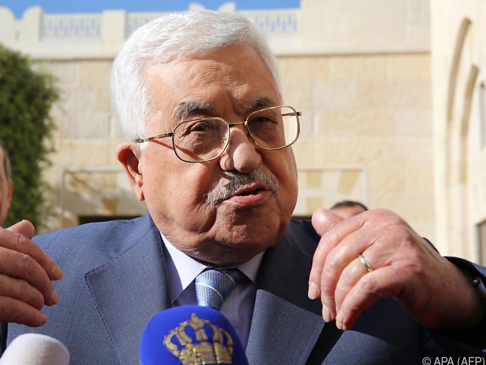 Palästinenserpräsident Mahmud Abbas