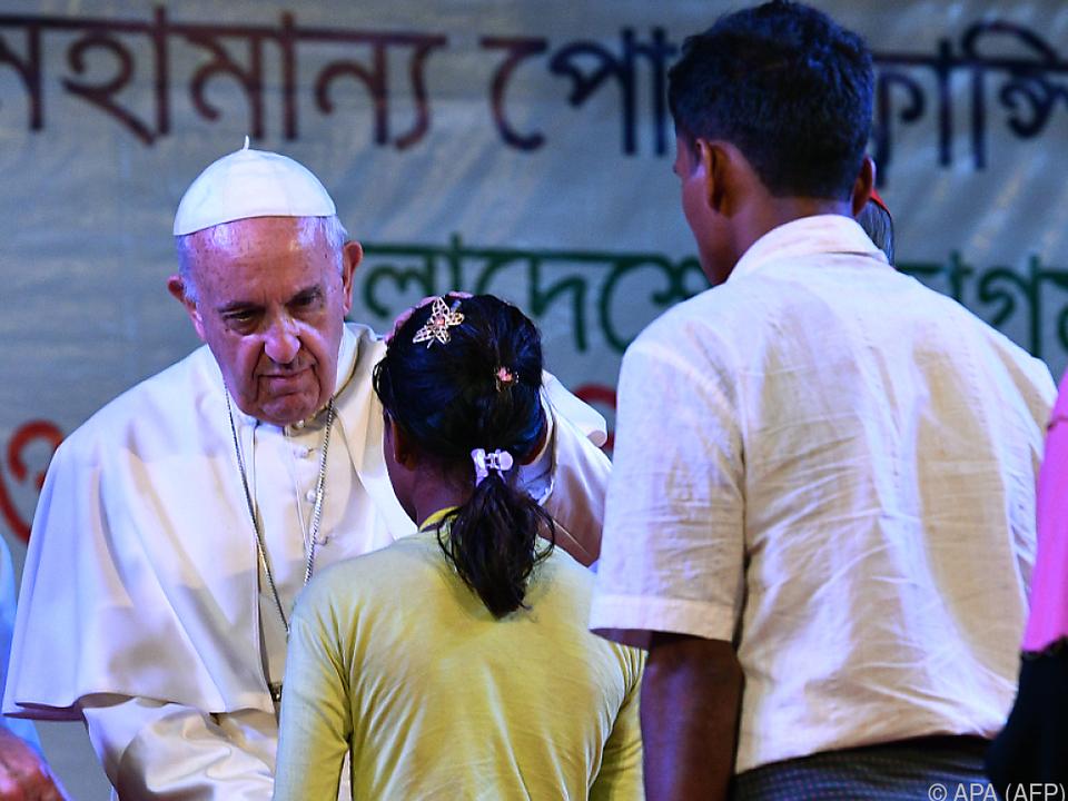 Papst traf Angehörige der muslimischen Volksgruppe