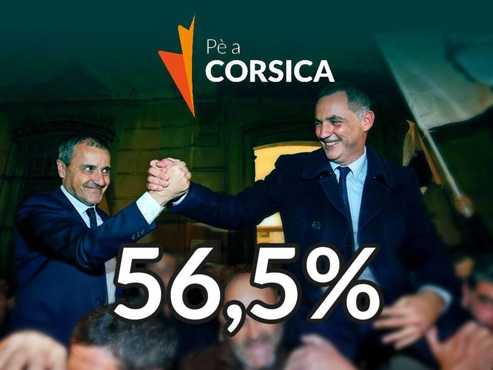 "pe_a_corsica Facebookseite von ""Pé a Corsica"" (von links: Jean-Guy Talamoni, Gilles Simeoni)"