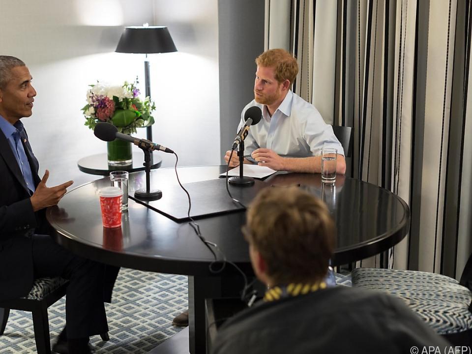 Prinz Harry interviewte den ehemaligen US-Präsidenten Barack Obama