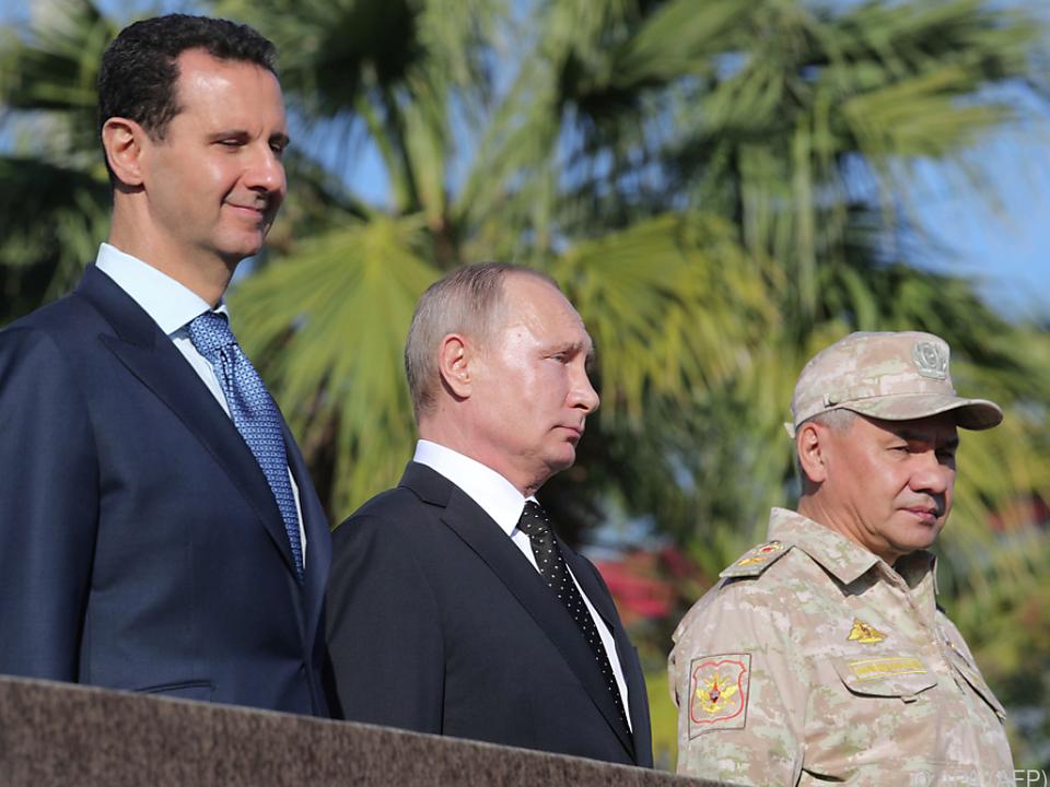 Putin bei seinem Syrien-Besuch am Montag