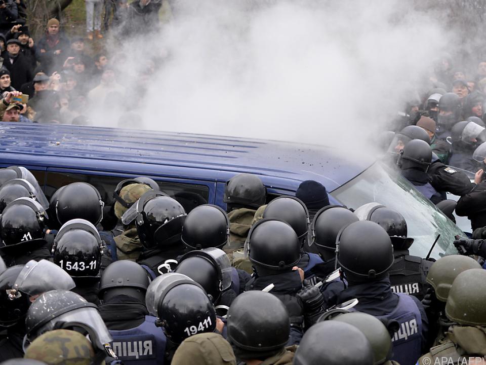 Saakaschwili-Anhänger stürmten den Bus