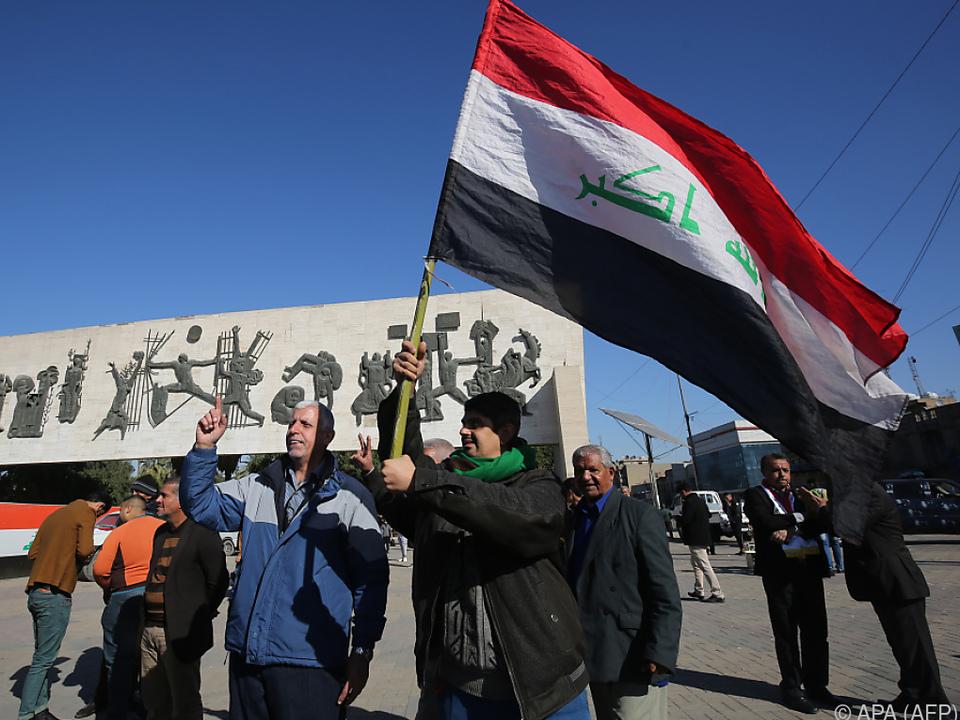 Siegesfeier in Bagdad