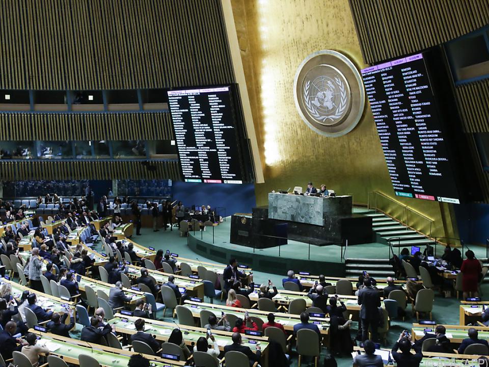 Sitzung der UNO-Vollversammlung in New York
