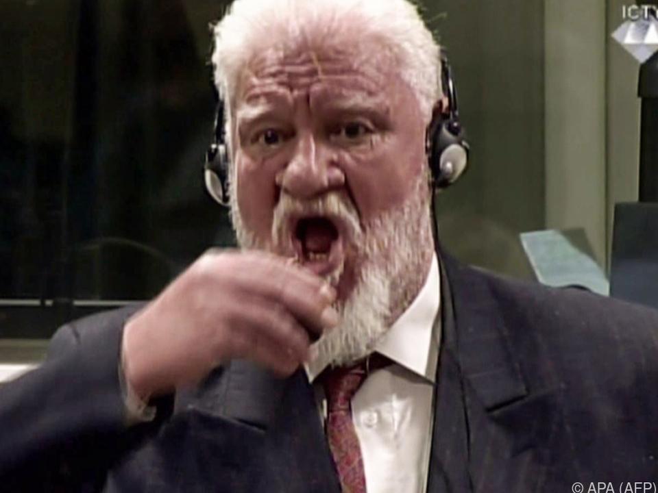 Slobodan Praljak wollte Urteil nicht akzeptieren
