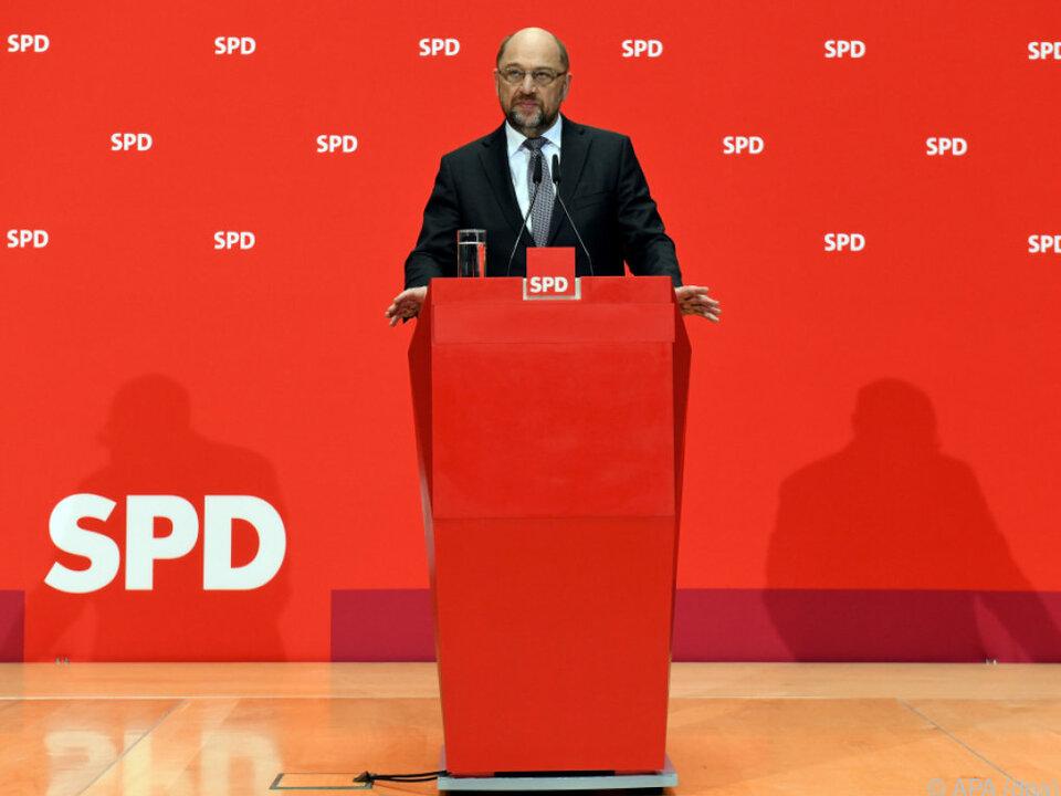 SPD-Chef Schulz informiert über das weitere Vorgehen