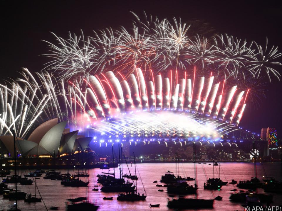 Spektakuläres Feuerwerk in Sydney