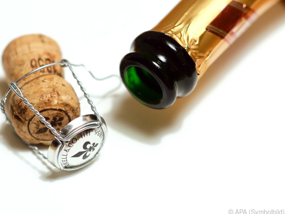 Statt Champagner gab es eine saftige Strafe