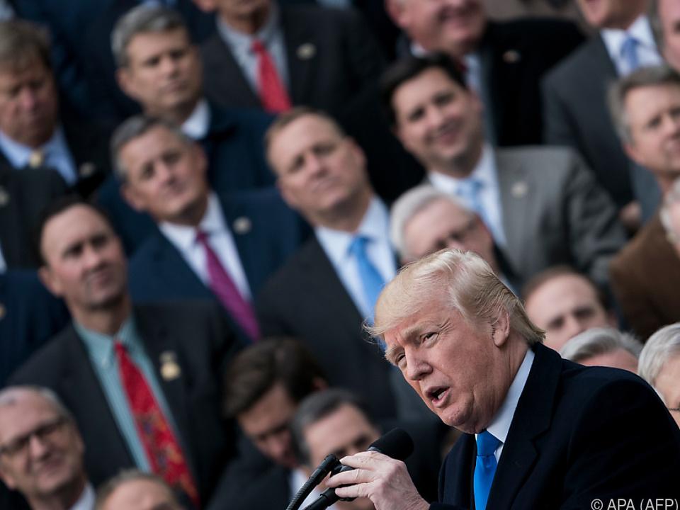 Steuerreform der bisher größte Erfolg von Präsident Trump