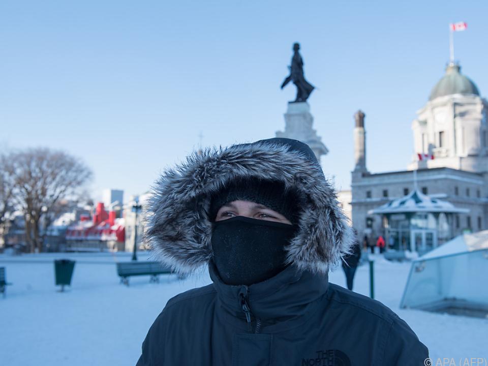 Teile Nordamerikas leiden unter Kälte