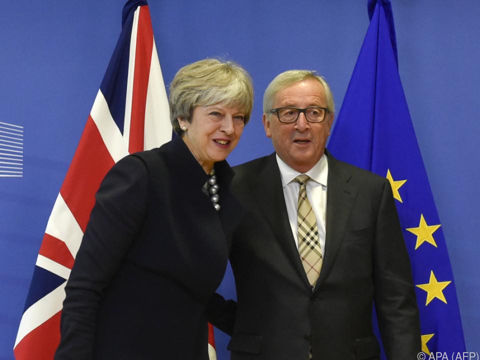 Theresa May traf Jean-Claude Juncker in Brüssel
