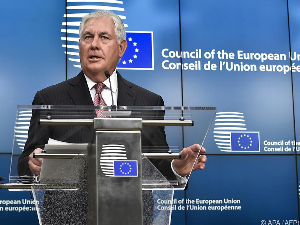 Tillerson zu Gast in Brüssel