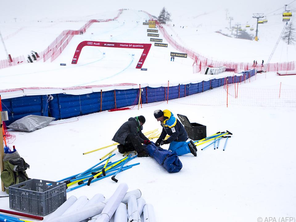 Unzufriedenstellendes Wochenende für die Damen in St. Moritz