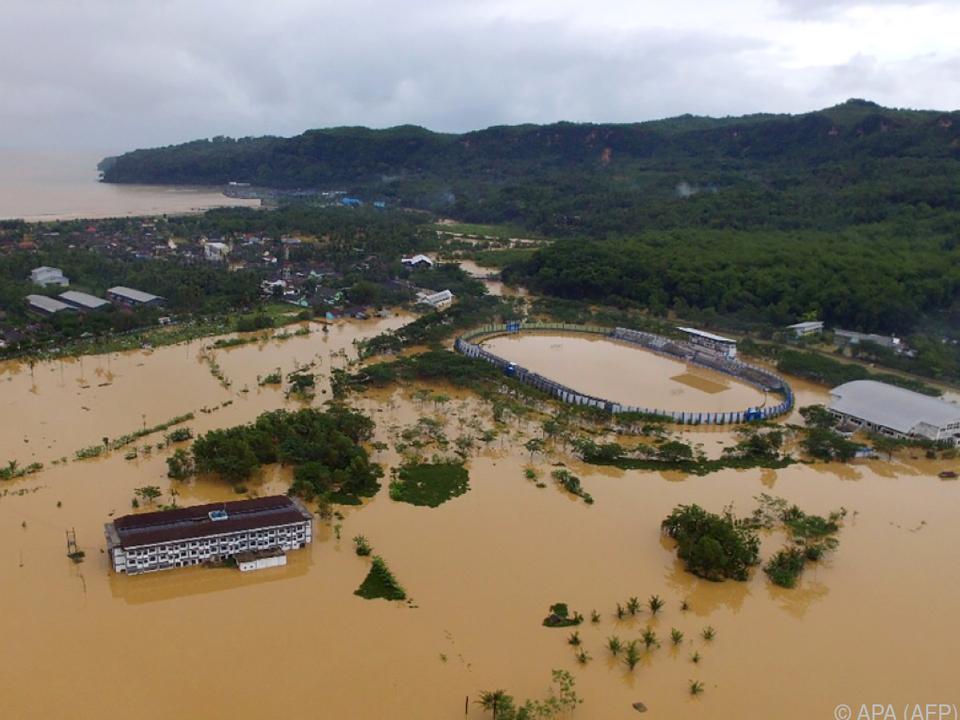 Weitläufige Überschwemmungen
