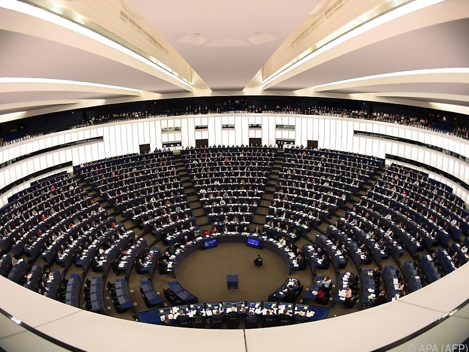 Blick auf das Europaparlament in Straßburg