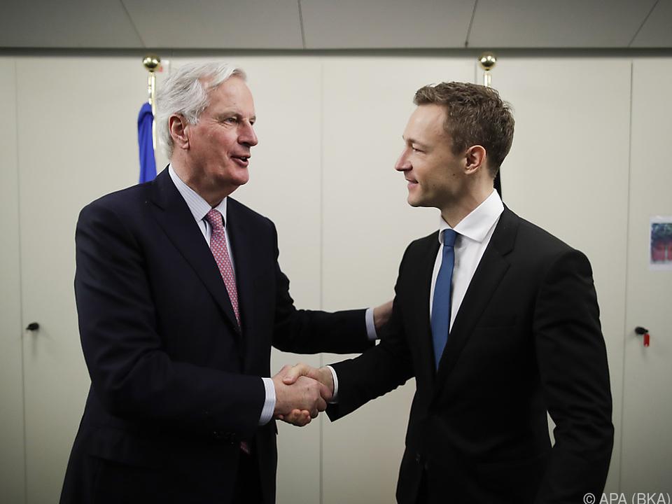 Blümel traf auf den Brexit-Chefverhandler Barnier
