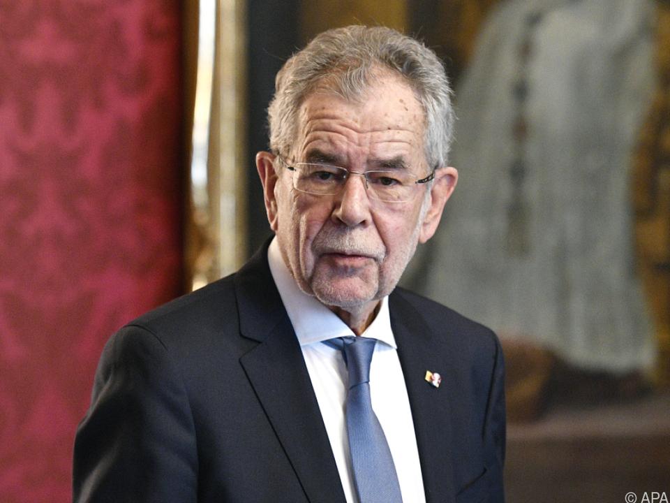 Bundespräsident Van der Bellen: \