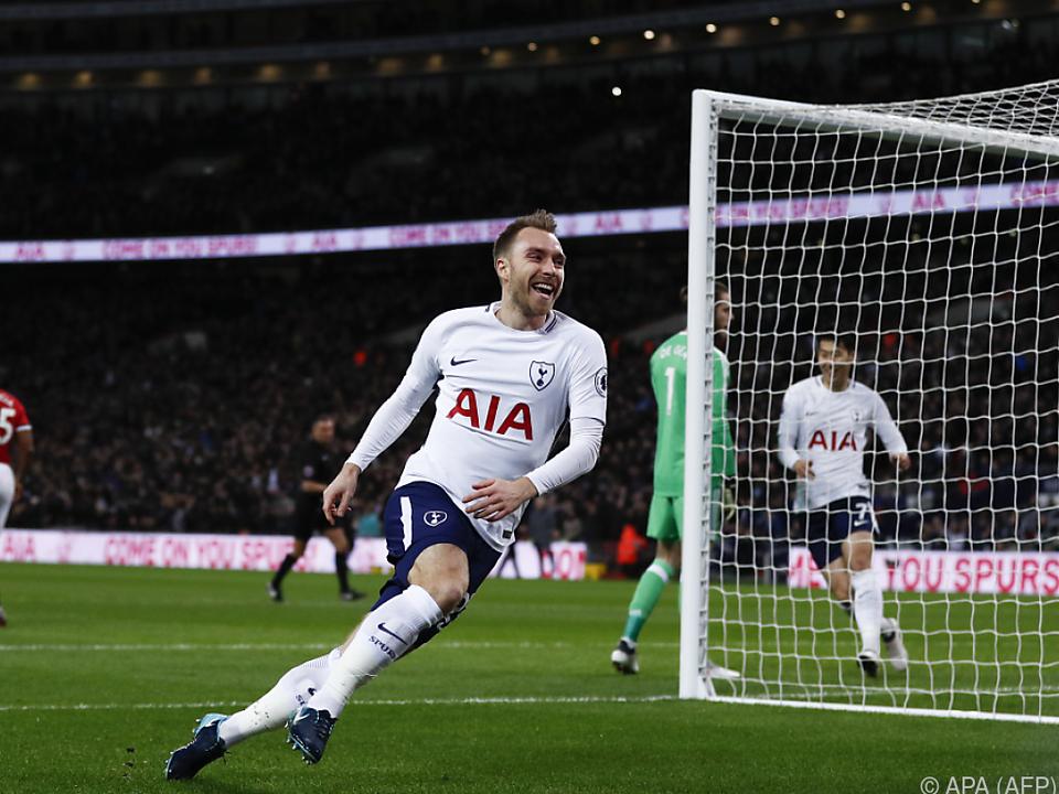 Christian Eriksen traf für Tottenham bereits nach 10,5 Sekunden
