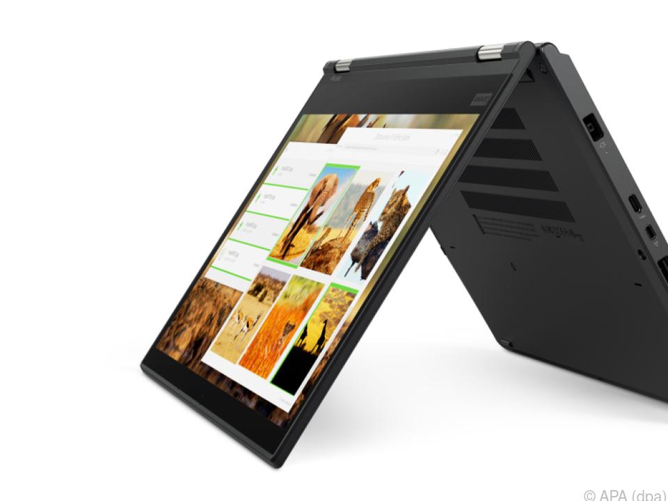 Das ThinkPad X380 Yoga kann man in einen Tablet-Modus versetzen