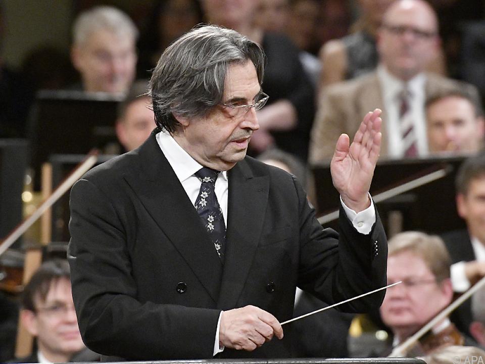 Der 76-jährige Muti dirigierte zum fünften Mal das Neujahrskonzert