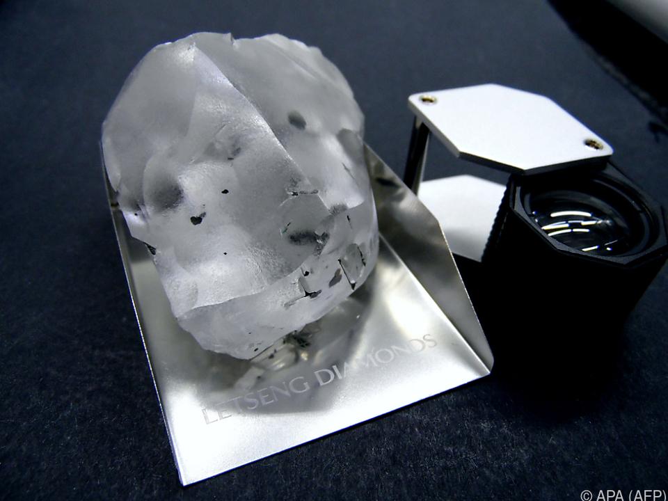 Der Diamant ist 910 Karat schwer