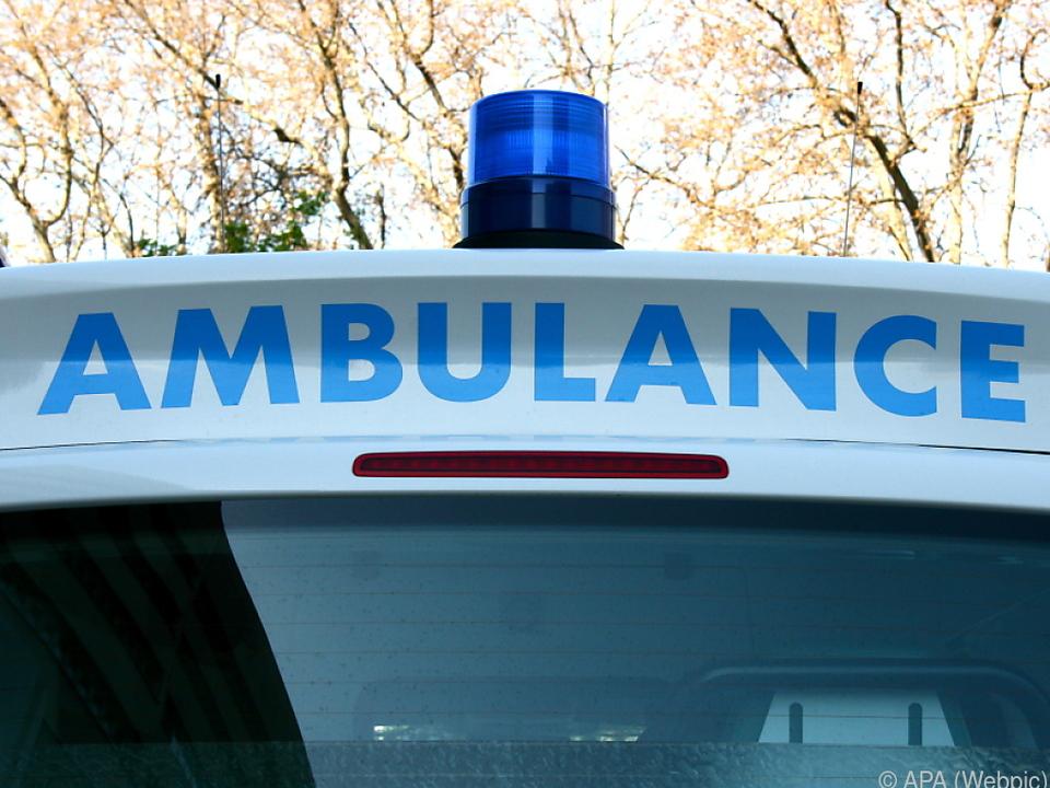 Der Mann kaperte ein Rettungsauto