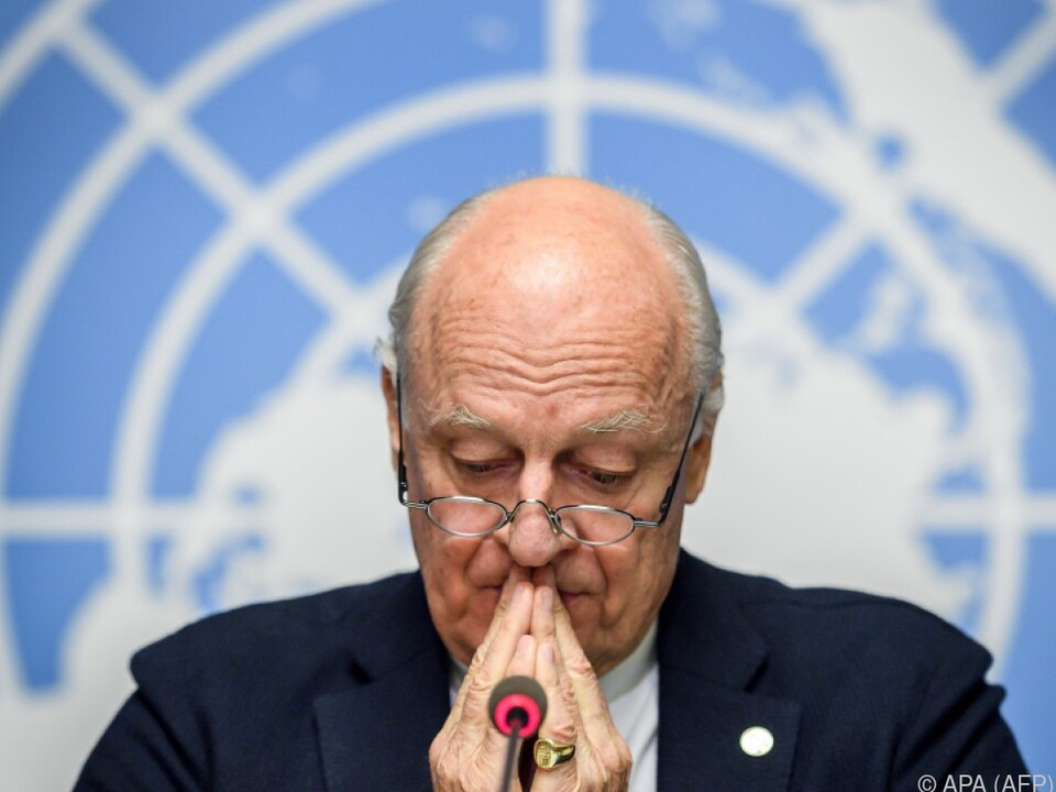 Der UNO-Sondergesandte Staffan de Mistura verkündete neues Treffen