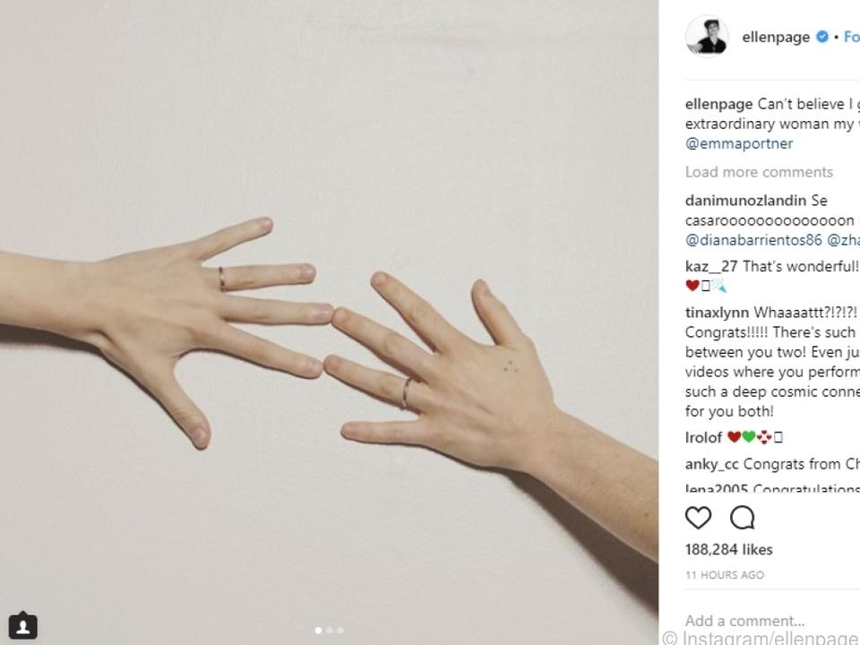 Ellen Page postete dieses Foto auf Instagram