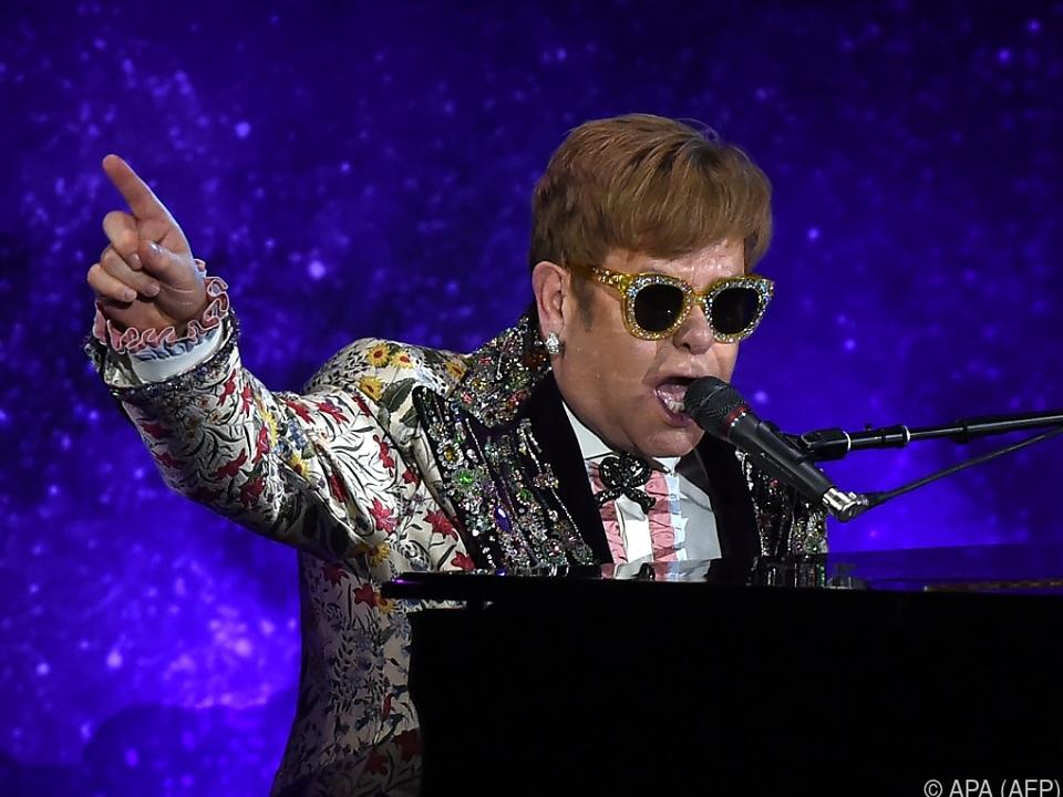Elton John performte in New York zwei Songs