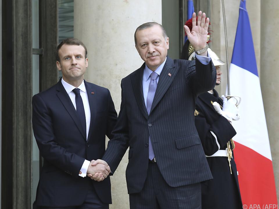 Erdogan zu Gast bei Macron in Paris