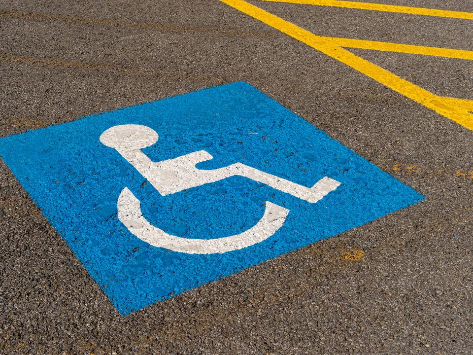 Parkplatz Behinderung
