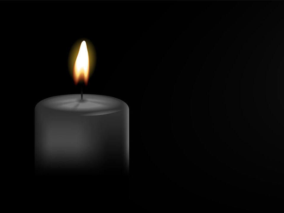 trauer Kerze  sym schwarz Hintergrund Banner Vektor Tod Trauer