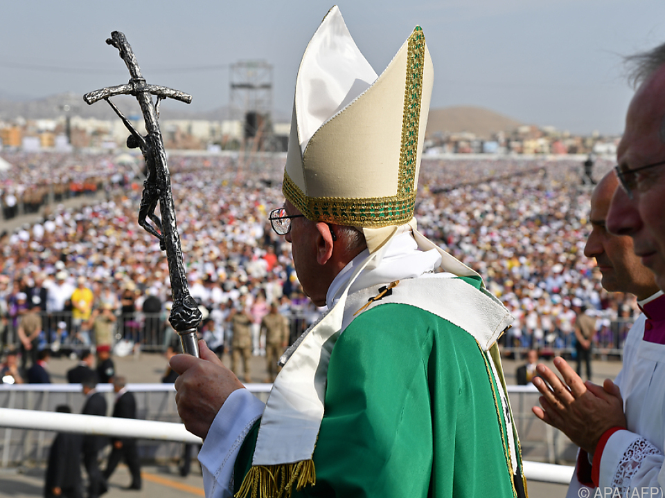 Franziskus feierte Messe vor 1,3 Millionen Gläubigen in Lima