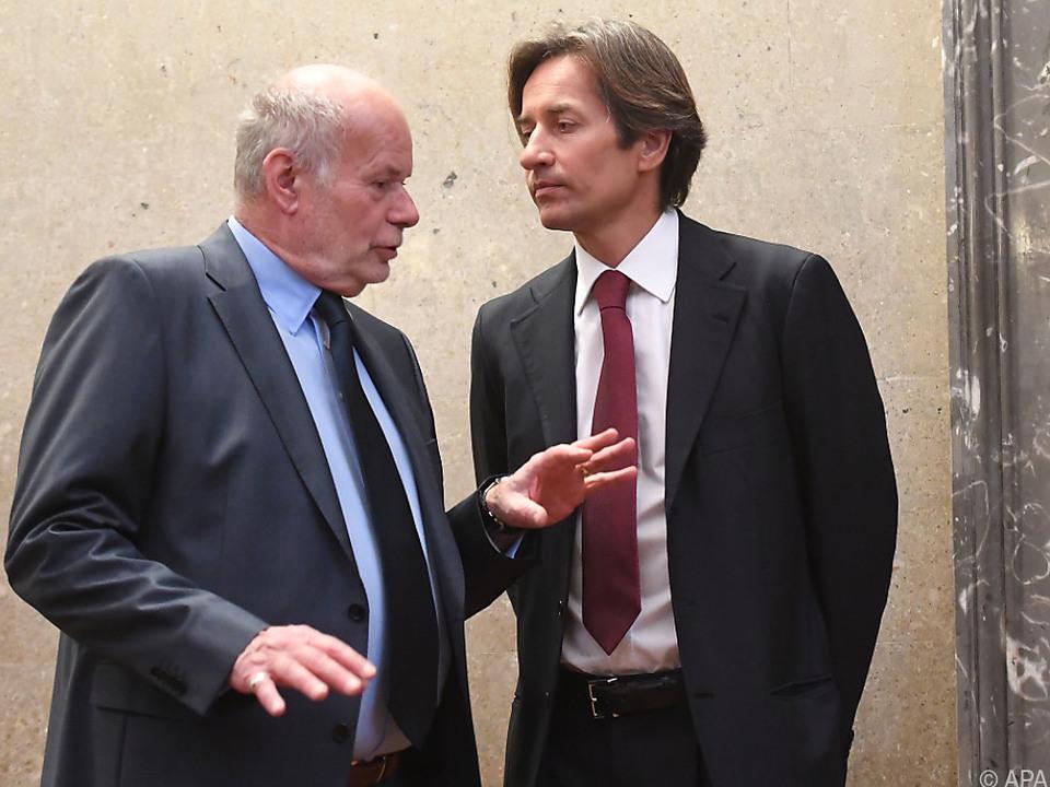 Grasser und sein Anwalt Ainedter