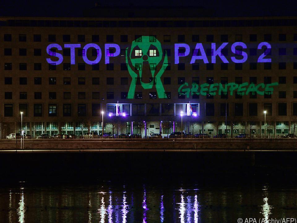 Greenpeace-Protest in Ungarn wegen Paks-Ausbaus