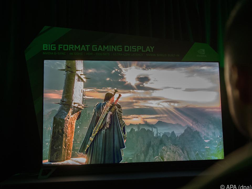Großer Bildschirm speziell für Gamer