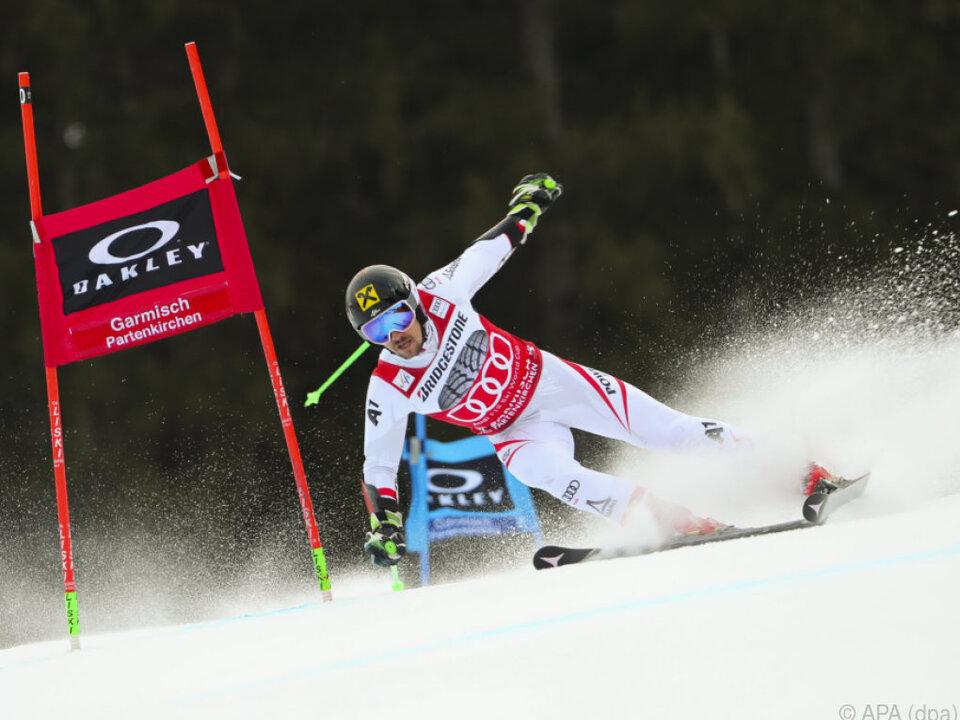 Ski LIVE: Marcel Hirscher geht in Garmisch als Führender in die Entscheidung