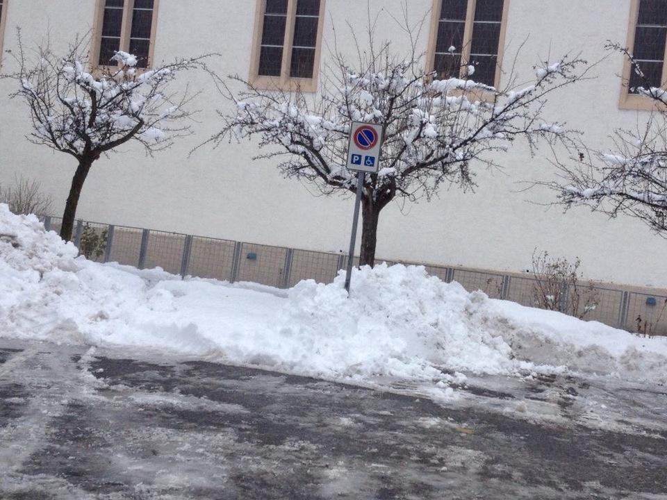 Invalidenparkplatz im Schnee