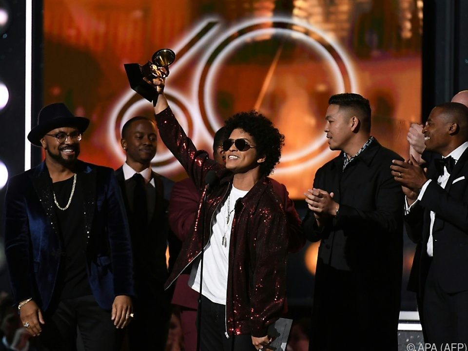 Insgesamt gewann Bruno Mars sechs der begehrtesten Musikauszeichnungen