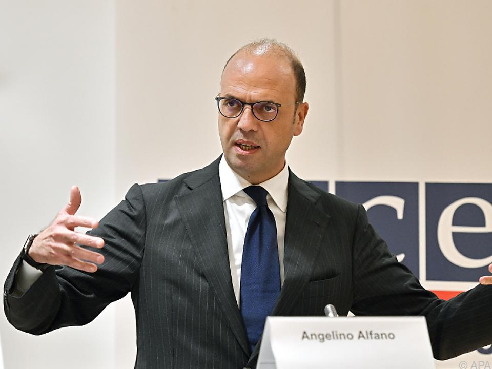 Italiens Außenminister Angelino Alfano in Wien