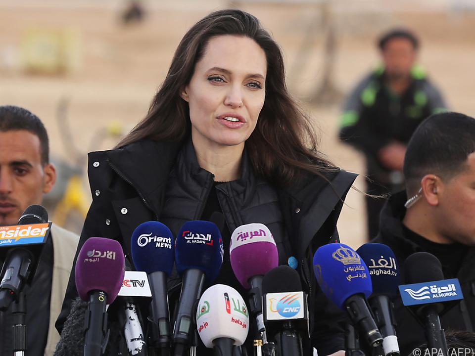 Jolie forderte den UNO-Sicherheitsrat auf, eine Lösung zu finden