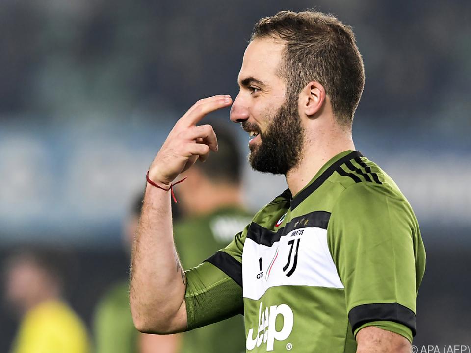 Juve-Stürmer Gonzalo Higuain fixierte den 2:0-Endstand