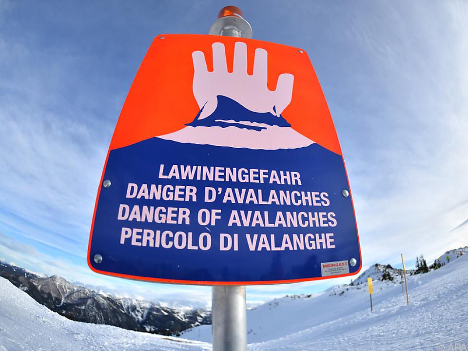 Lawinengefahr der Stufe vier in Vorarlberg