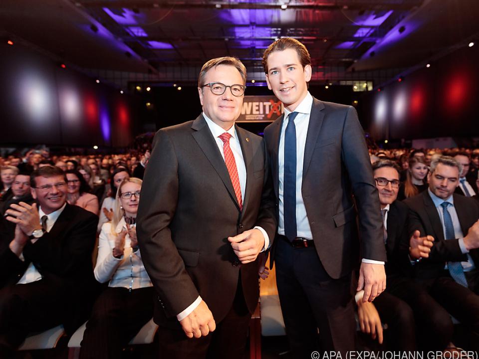 LH Günther Platter mit Bundeskanzler Sebastian Kurz