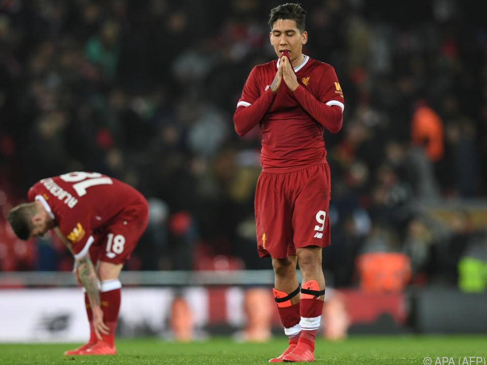 Liverpool-Spieler nach dem Schlusspfiff schwer enttäuscht