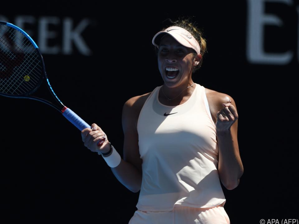 Madison Keys setzte sich gegen Caroline Garcia durch